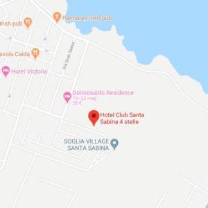 Mappa Hotel Club Santa Sabina